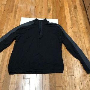 DKNY 1/2 zip funnel neck sweater slim fit